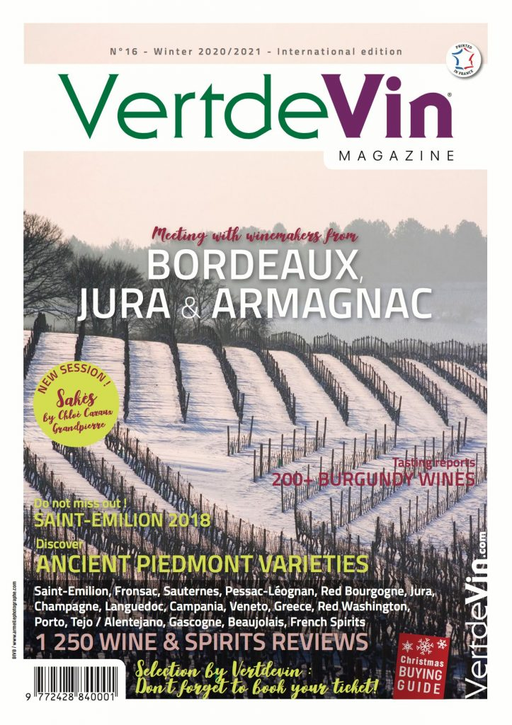 Nos vins dans le magazine VERT DE VIN